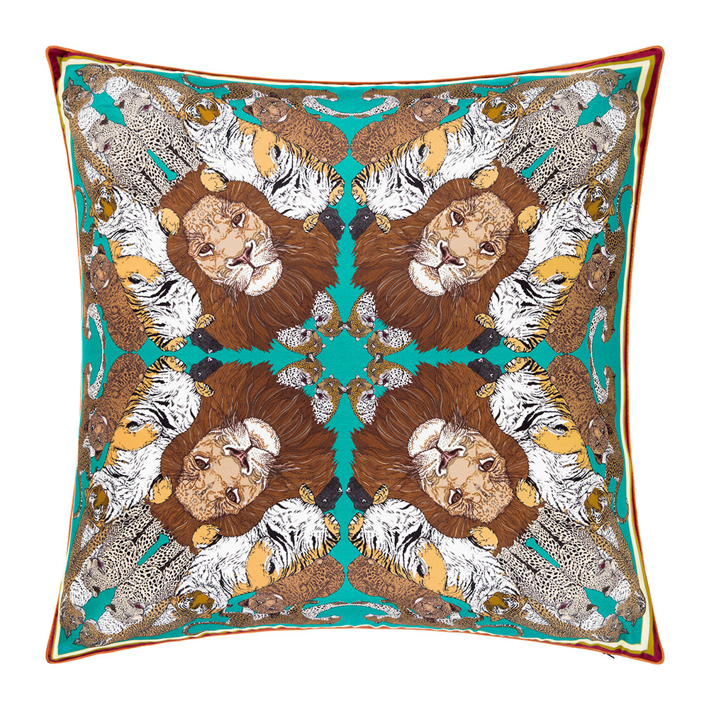 Silken Favours - Big Cats Cushion - 55x55cm
