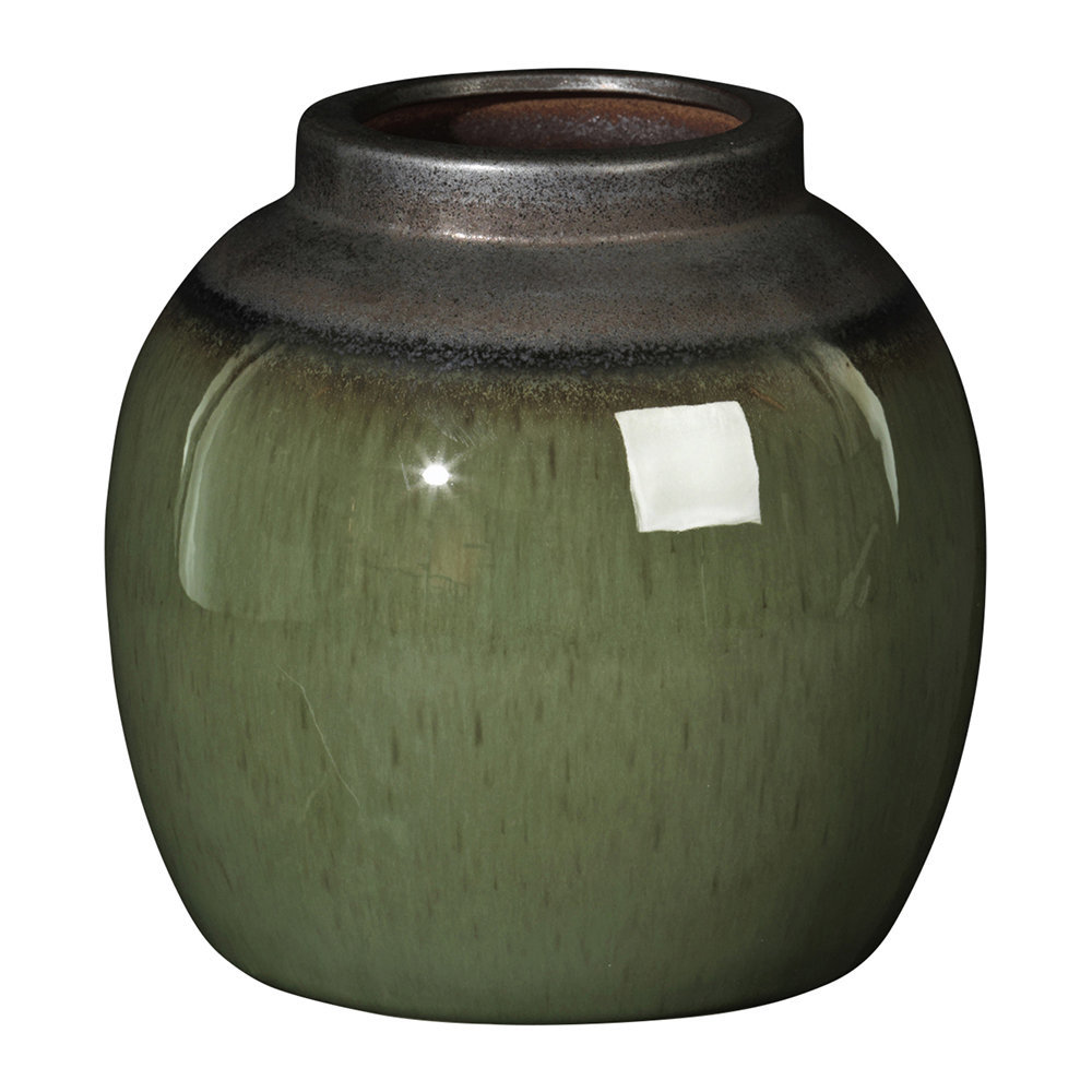 buy broste copenhagen laust round vase grey green amara. Black Bedroom Furniture Sets. Home Design Ideas