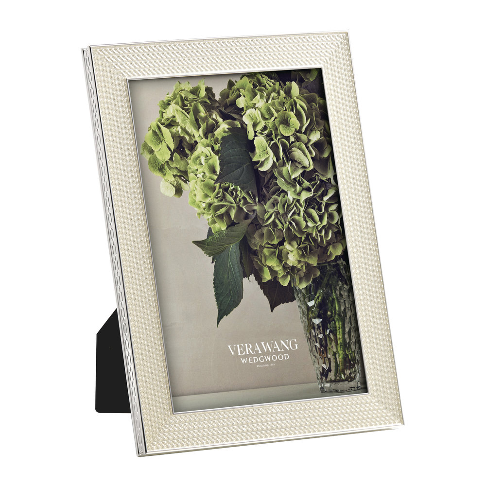 Vera Wang for Wedgwood - With Love Pearl Photo Frame - 4x6""