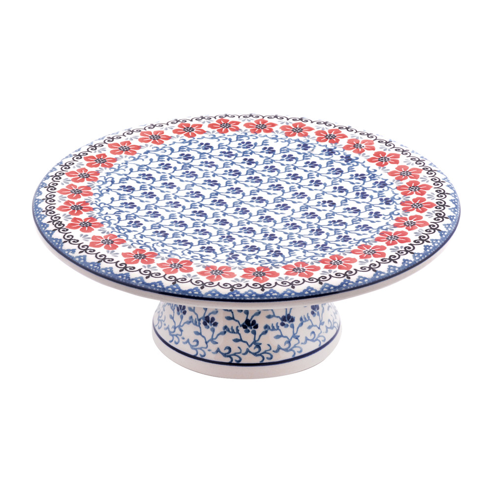 bunzlau castle cake stand red violets gay times uk