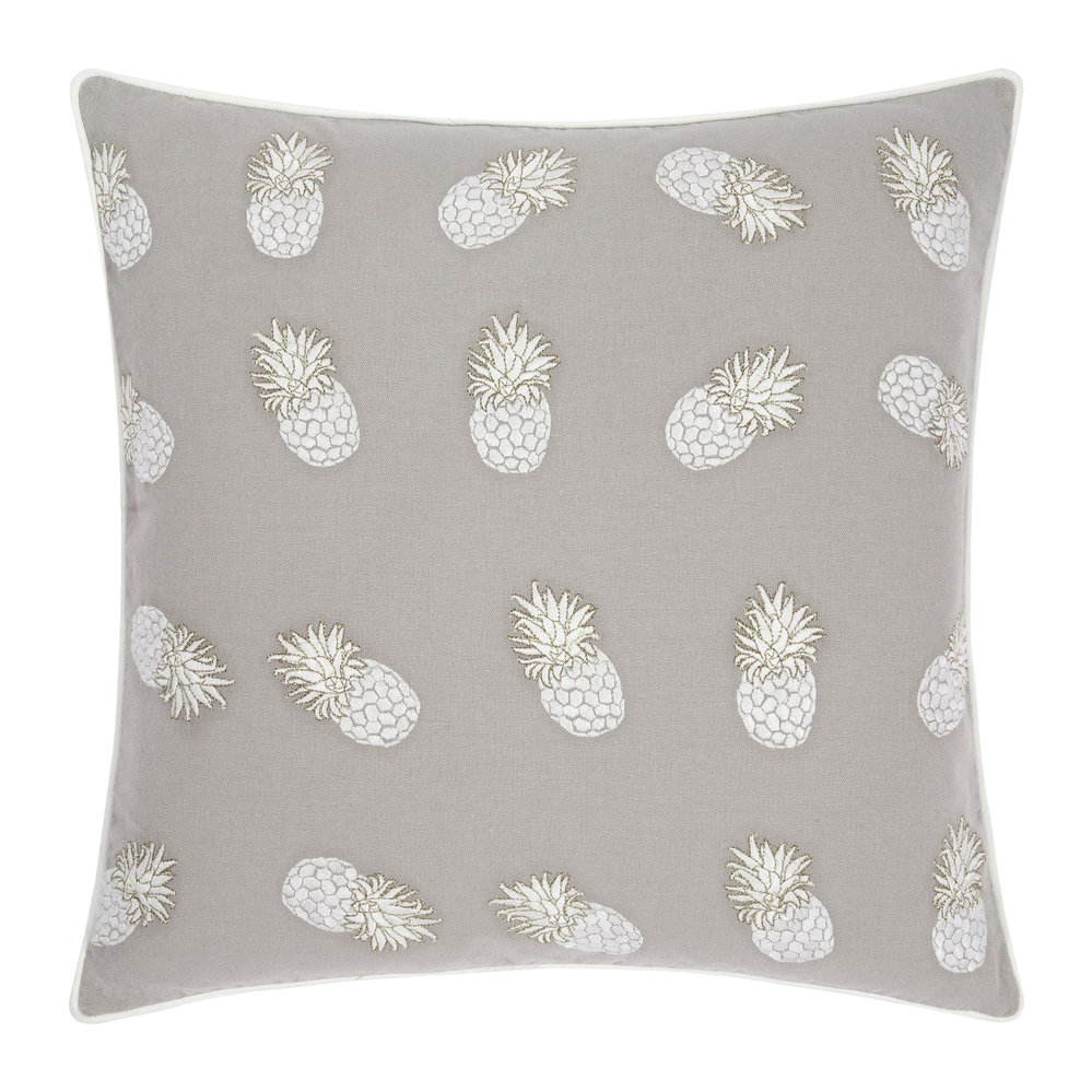 Elizabeth Scarlett - Ananas Cushion - Cloud