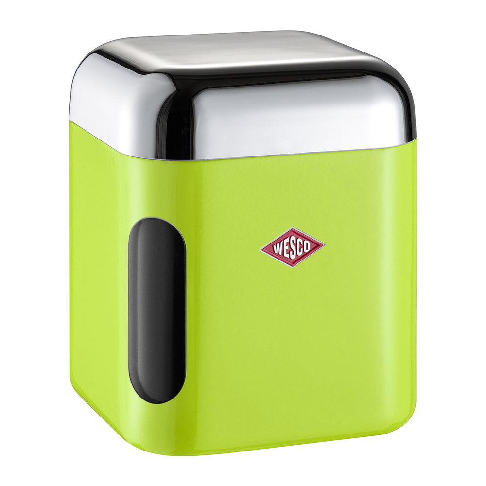 Wesco - Square Canister with Window - Lime Green