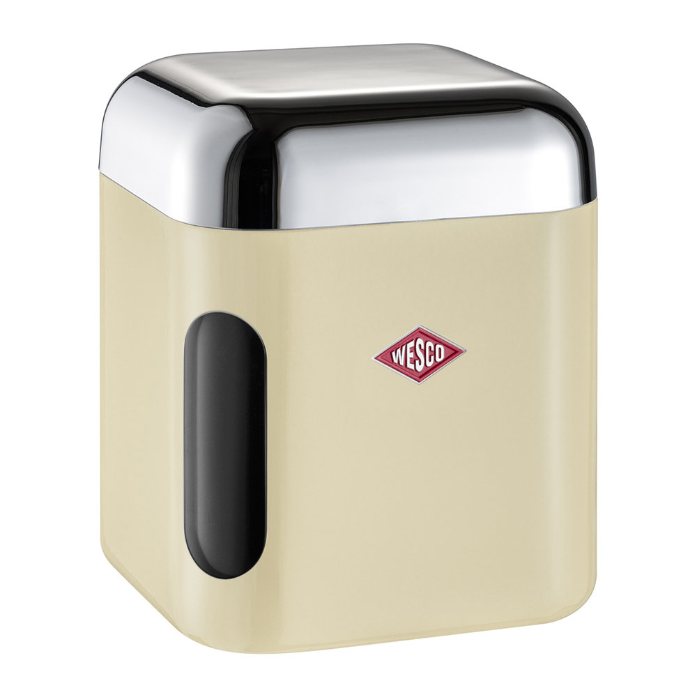 Wesco - Square Canister with Window - Almond