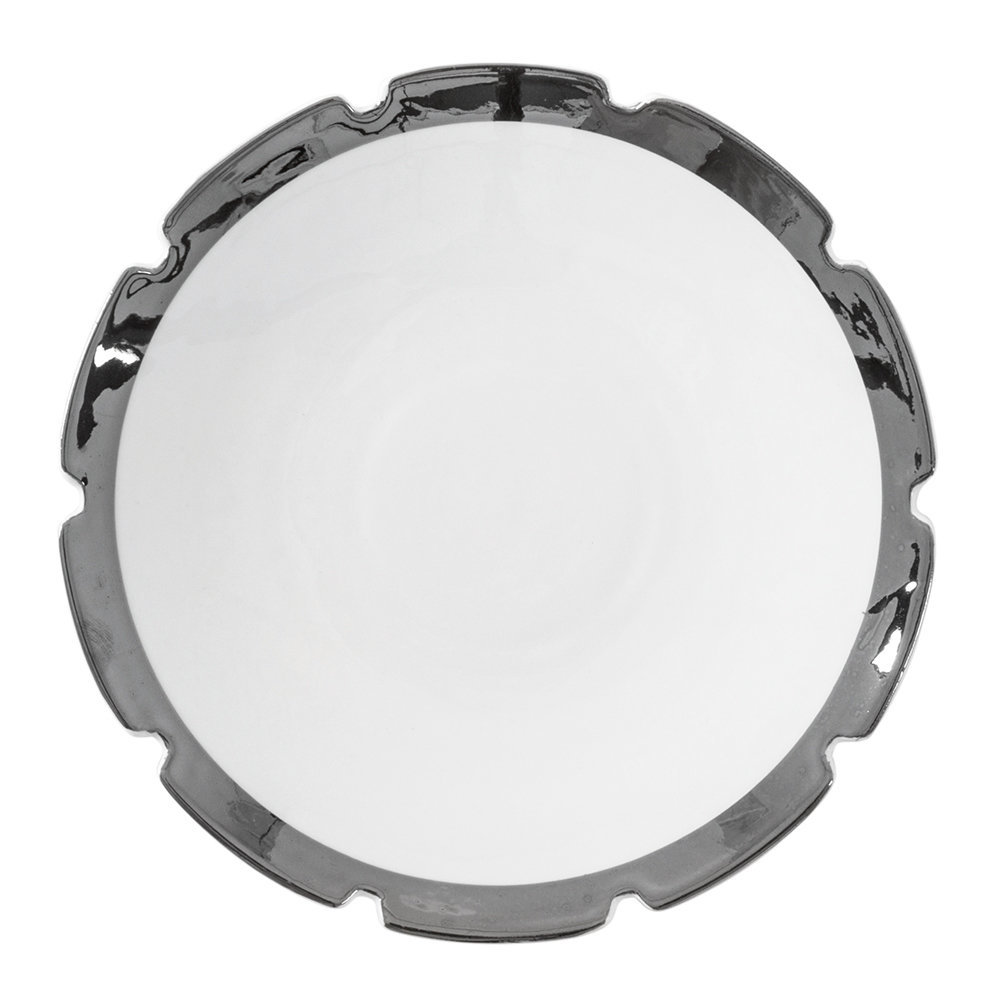 Diesel Living with Seletti - Machine Collection Dessert Plate - Design 3 Silver