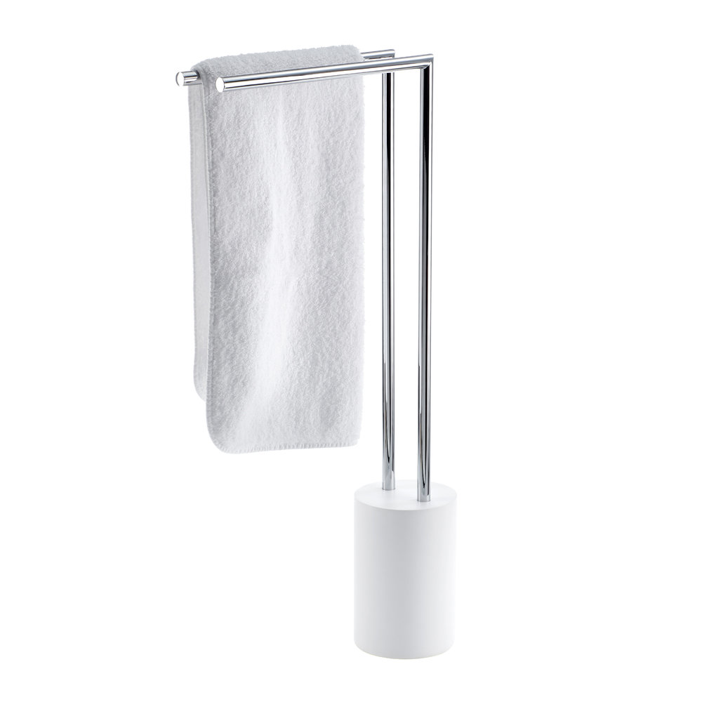 towel stand chrome hand towel next buy decor walther stone ht2 towel stand whitechrome amara