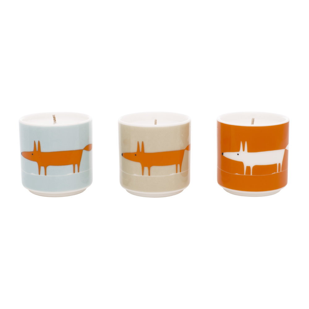 Scion - Mr Fox Candle - Set of 3