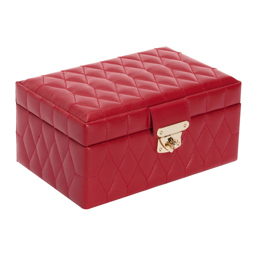 Wolf - Caroline Small Jewelry Box with Travel Case - Red
