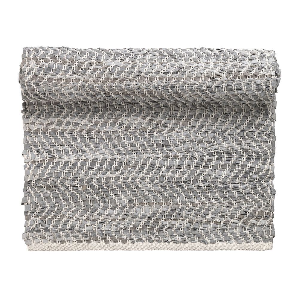 Zigzag Runner Rug 70x140cm Light Grey