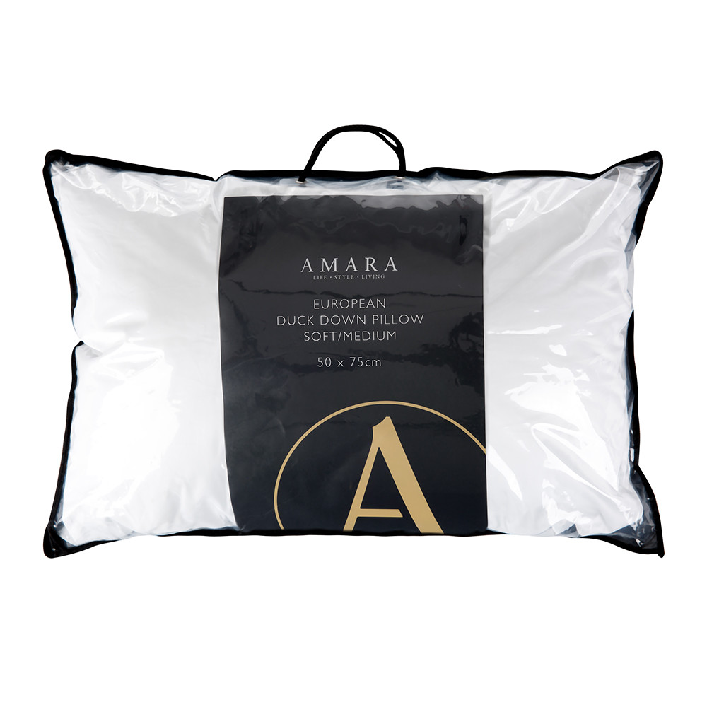 A by AMARA - European Duck Down Pillow - Soft/Medium