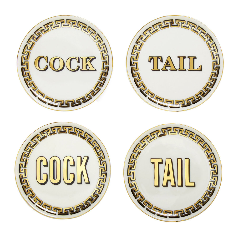 Jonathan Adler - Cock/Tail Coasters