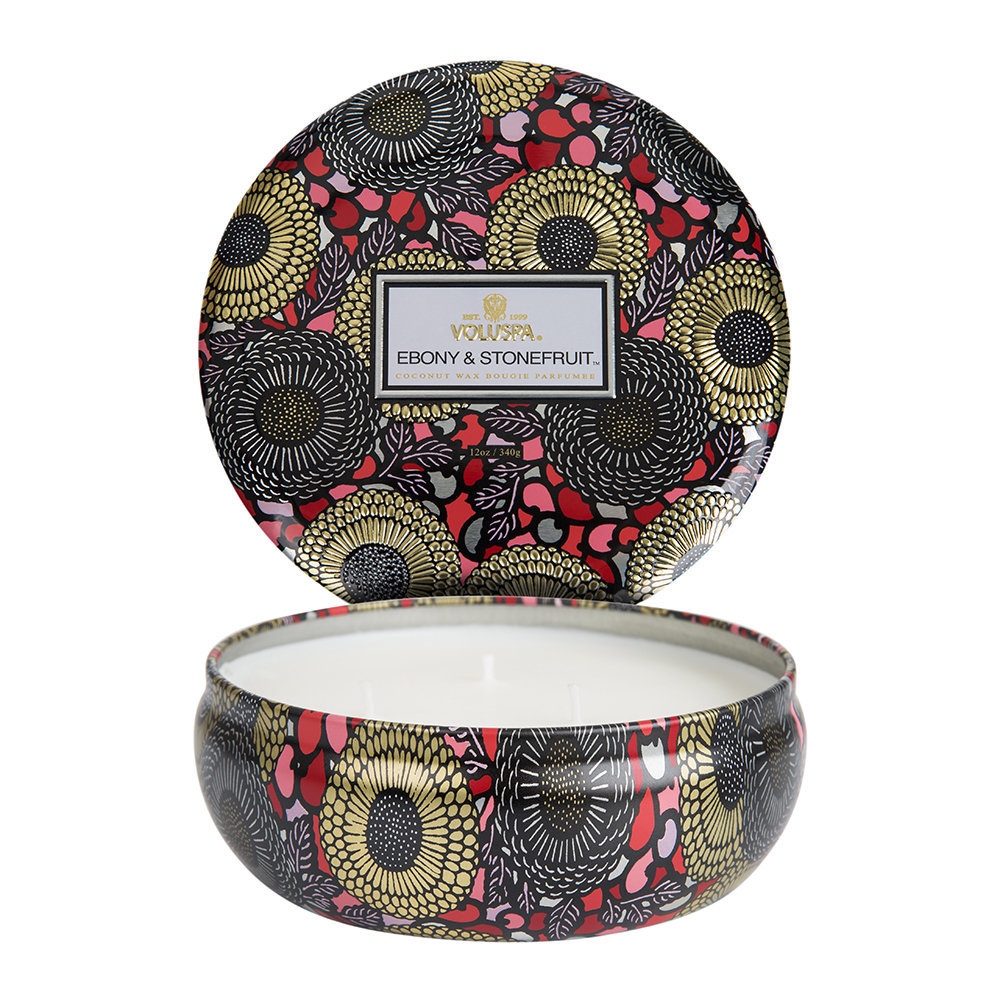 Voluspa - Japonica 3 Wick Candle - Ebony  Stone Fruit