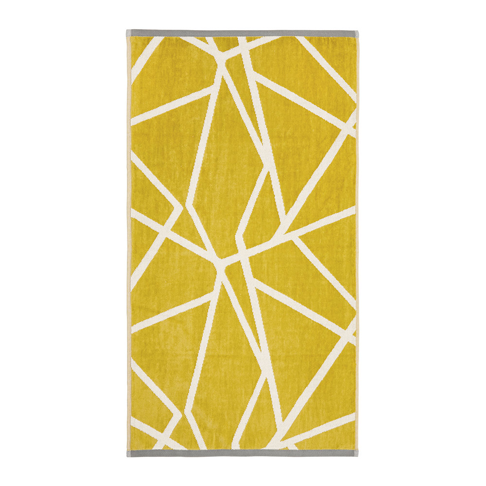 Harlequin  Sumi Towel  Gold  Gray  Bath Towel
