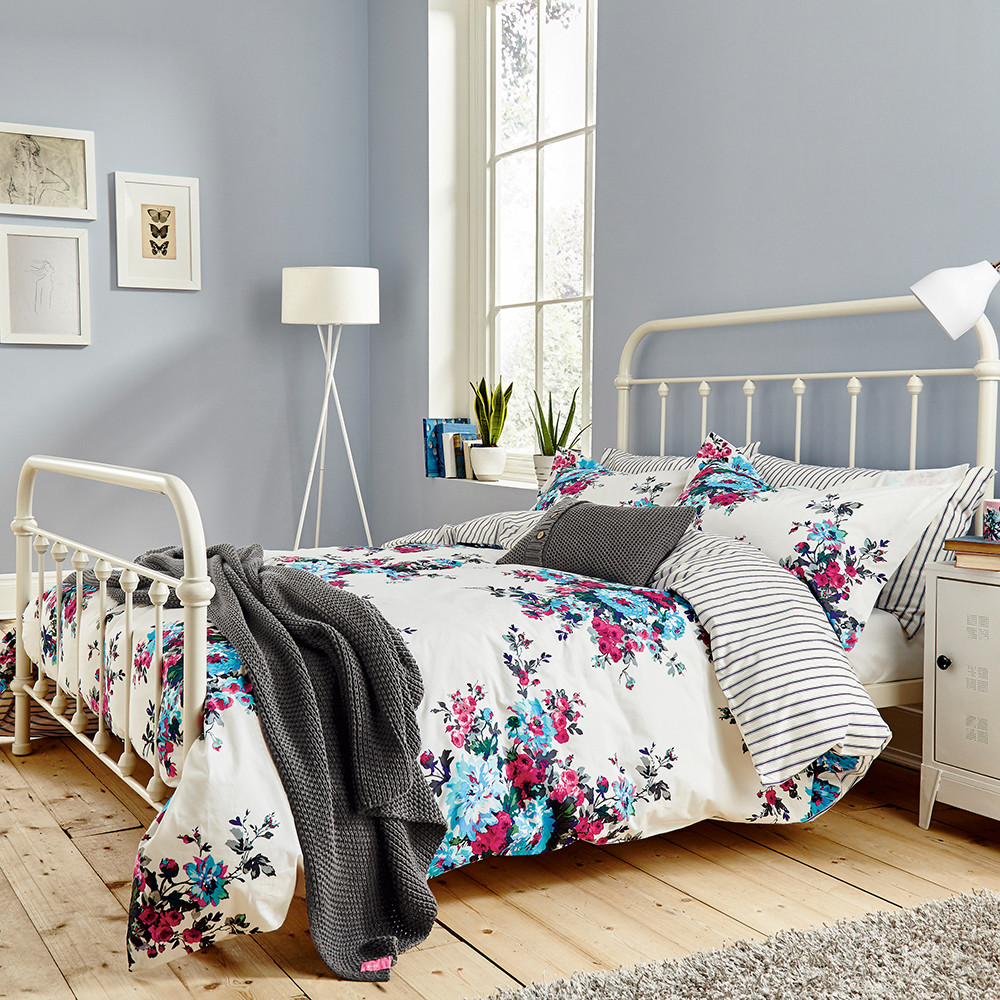 Joules - Charlotte Cream Floral Duvet Cover - Single