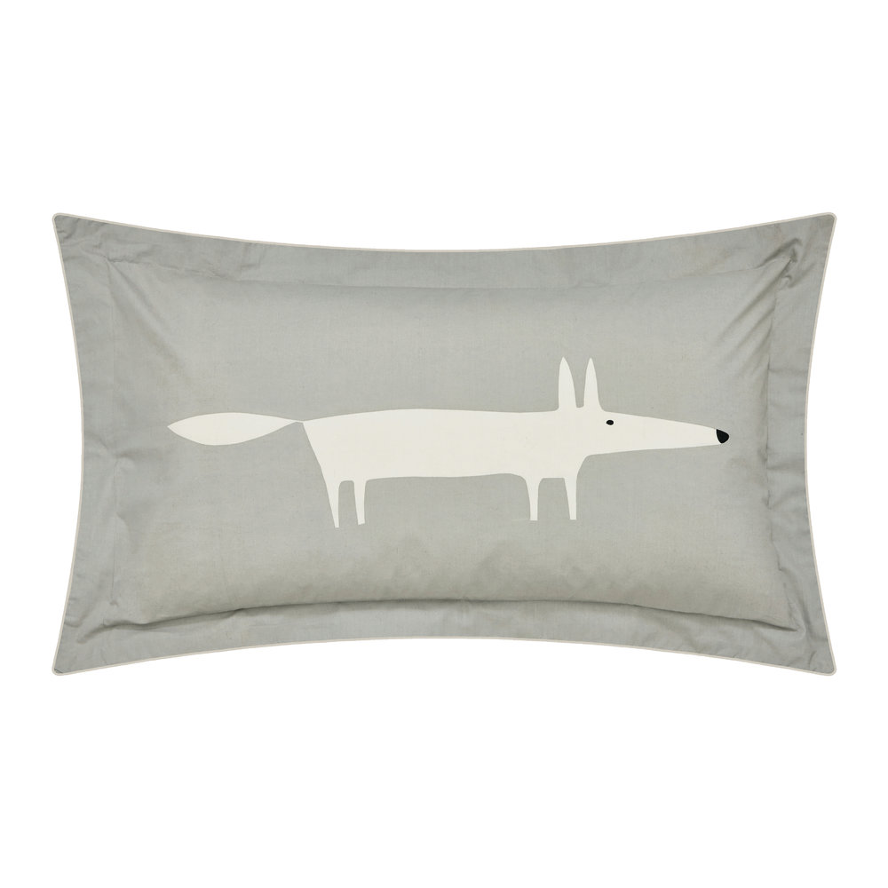 Scion  Mr Fox Pillowcase  Silver  Oxford