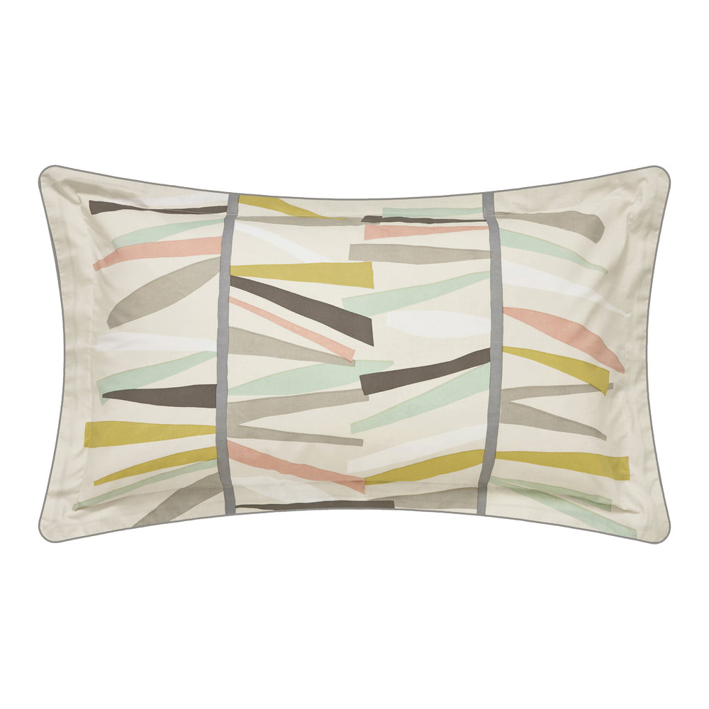 Scion  Tetra Hessian and Mint Pillowcase  Oxford