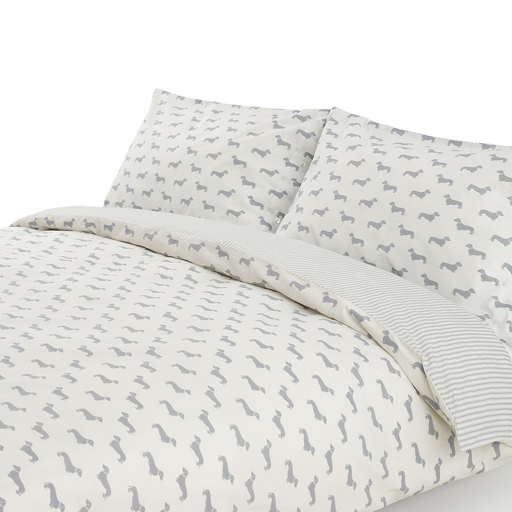 Buy Emily Bond Dachshund Grey Duvet Set Amara