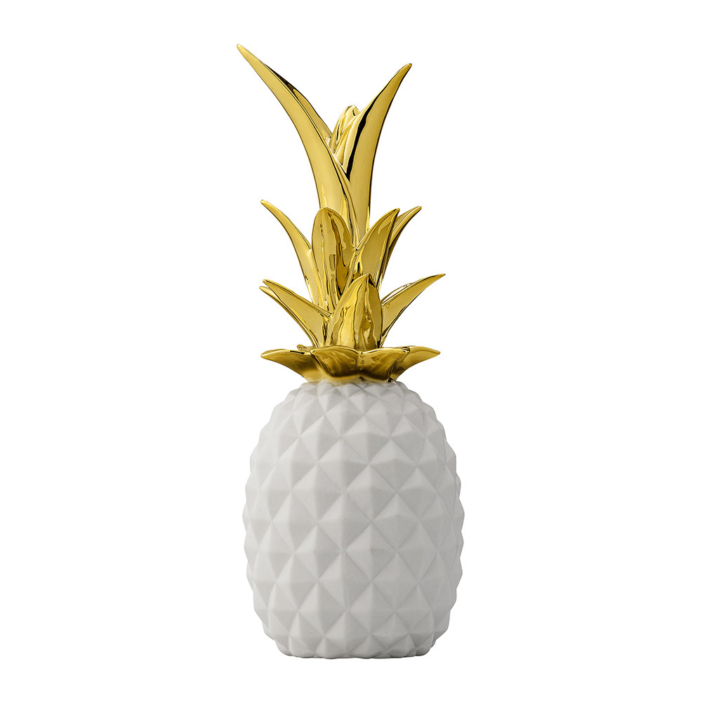 Bloomingville - Decorative Pineapple Ornament - White