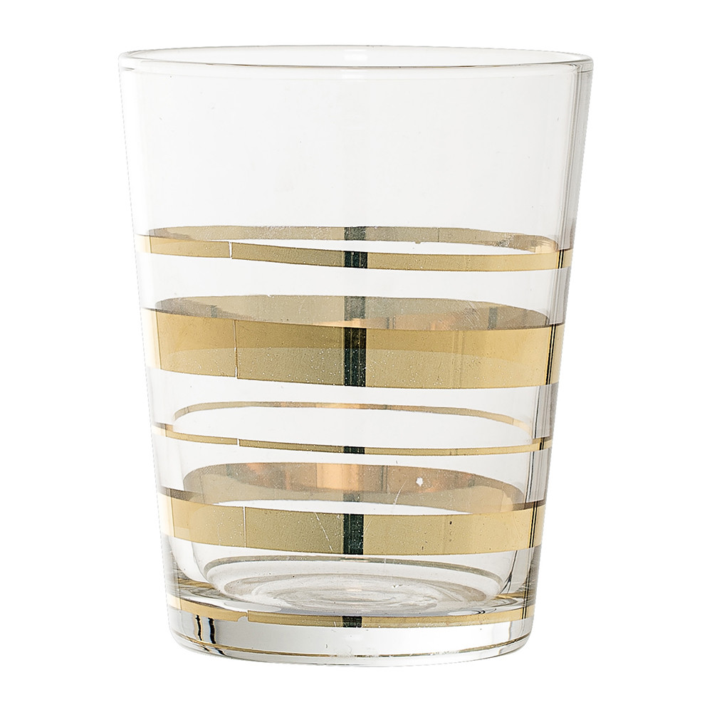 Buy bloomingville gold glass bathroom tumbler amara for Gold glass bathroom accessories