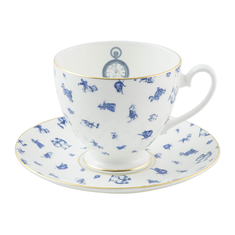 Mrs Moore's Vintage Store - Alice Chintz Teacup  Saucer - White