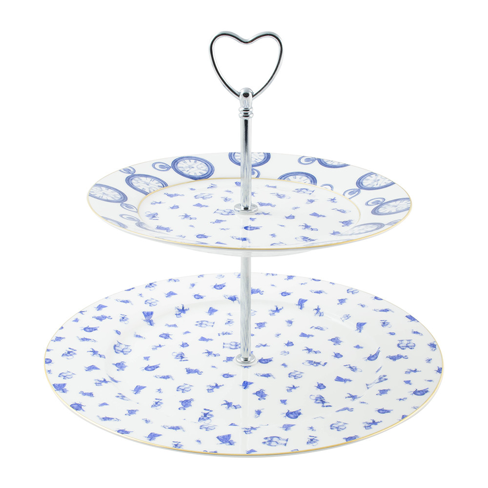 buy mrs moore s vintage store alice chintz 2 tier cake stand white