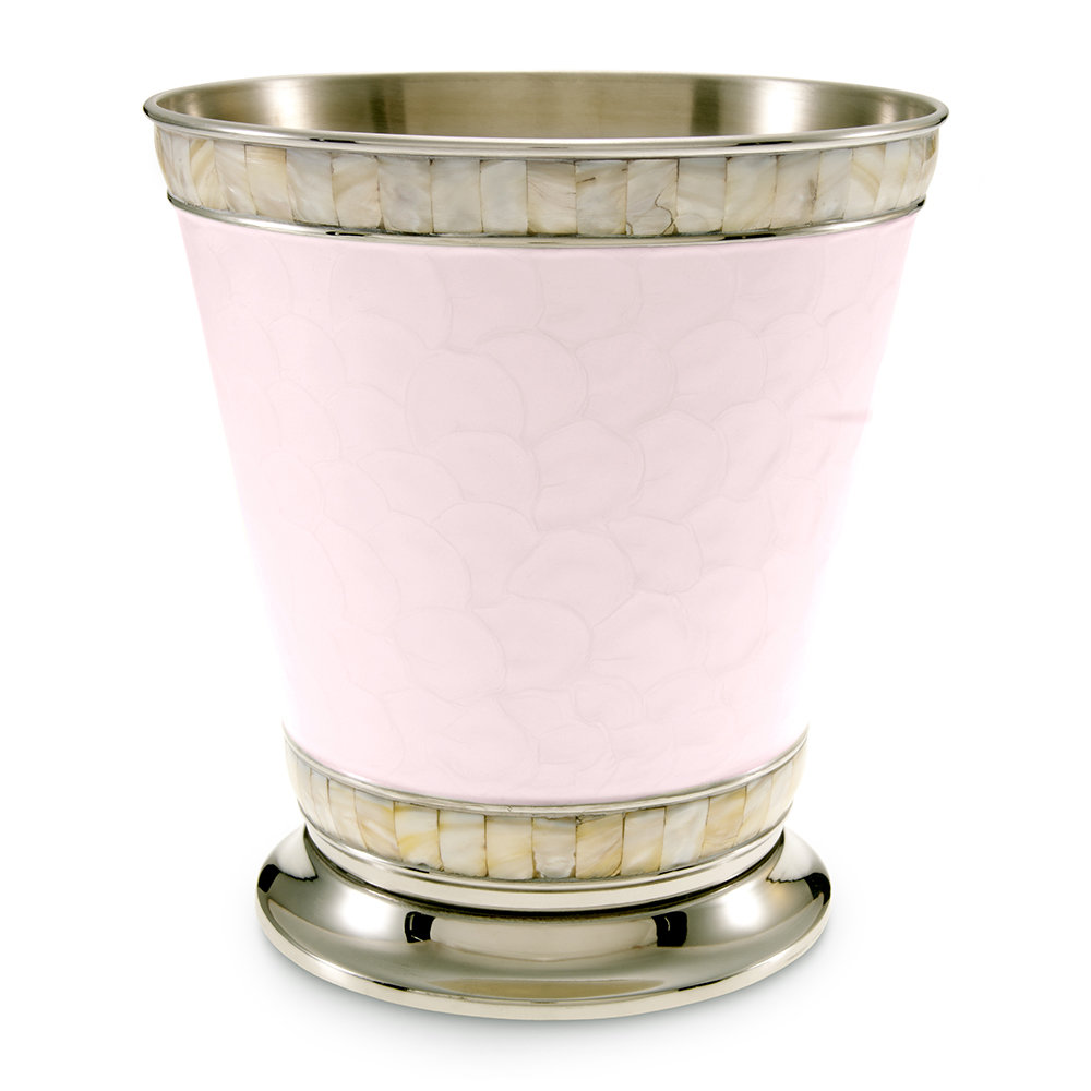 Buy julia knight classic waste paper basket pink ice amara for Pink bathroom bin