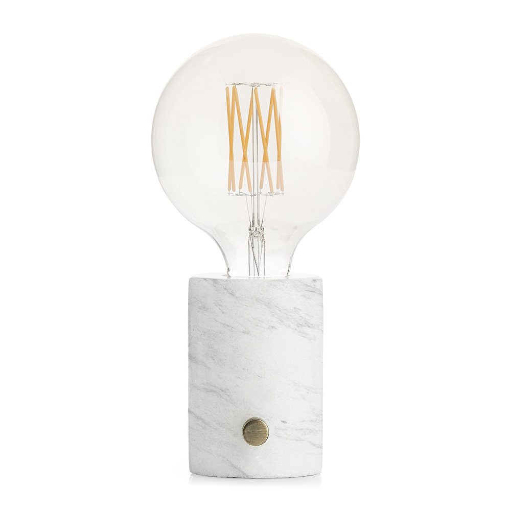 A by Amara - Orbis Lamp - White Marble