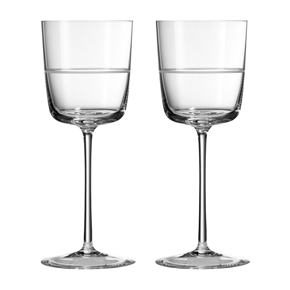 Vera Wang for Wedgwood - Bande Wine Glasses - Set of 2