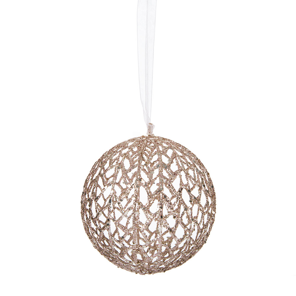 Buy a by amara glitter open net tree decoration rose for Decoration rose gold