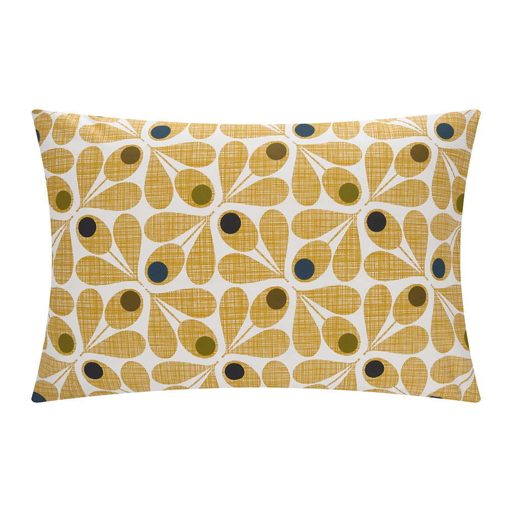 Orla Kiely  Acorn Cup Pillowcase  Olive  Set of 2