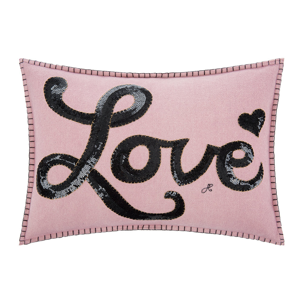 Jan Constantine - Glam Rock Sequin Cushion - Love - Pink