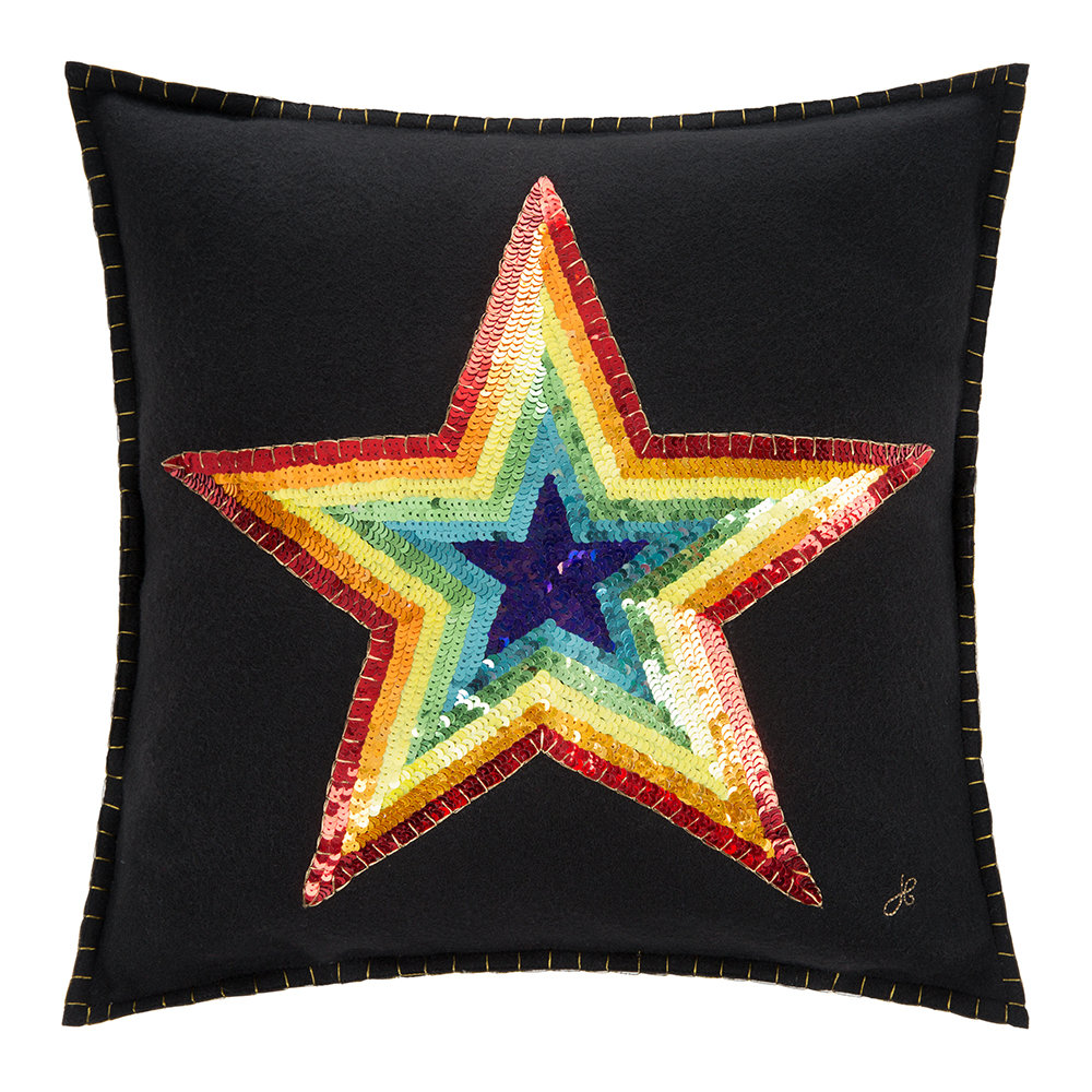 Jan Constantine - Glam Rock Rainbow Cushion - Star