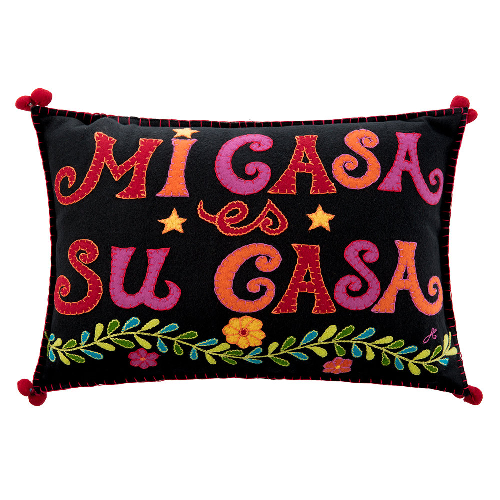Jan Constantine - Fiesta Mi Casa Cushion - Black