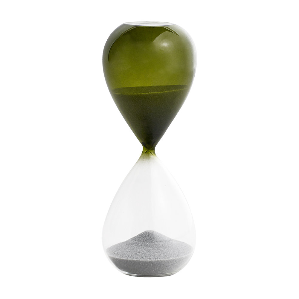 HAY - 'Time' Hourglass - 15 Minutes - Grass Green
