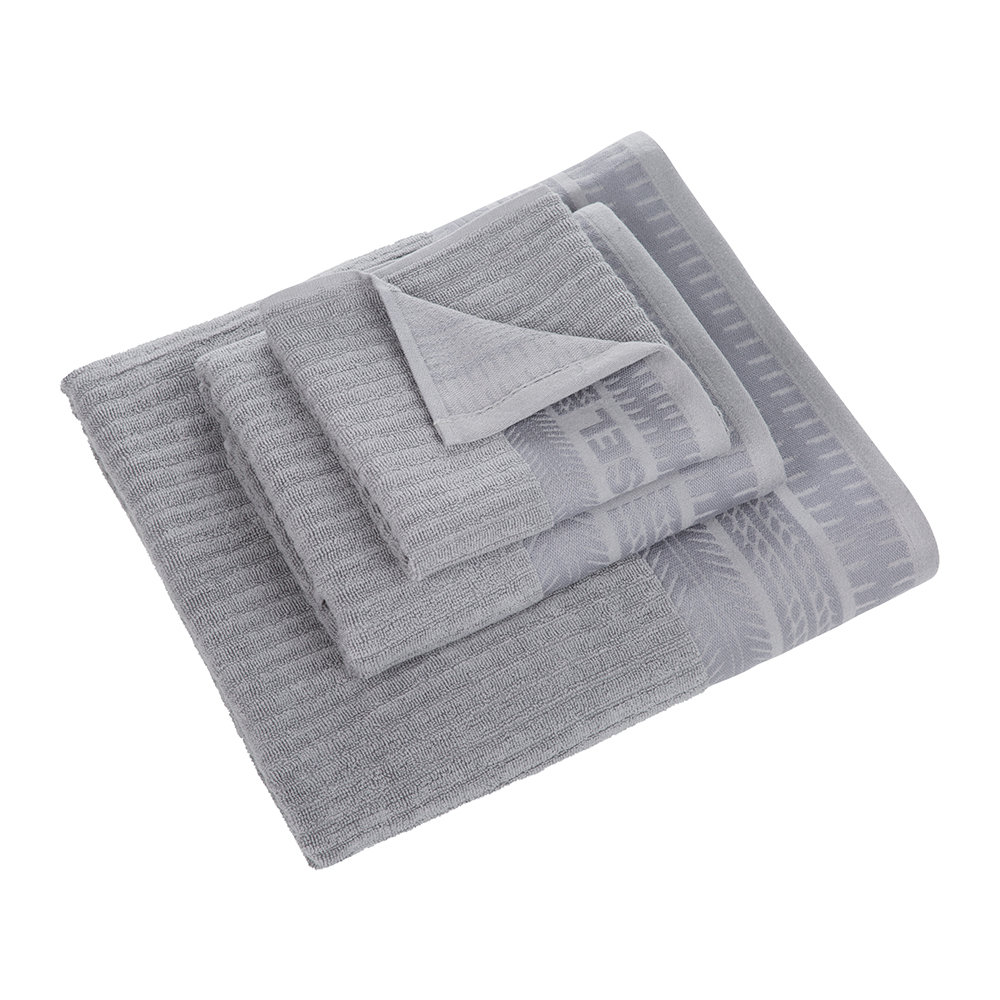 Hand Towels Bathroom: Buy Diesel Living Solid Towel - Grey - Guest Towel