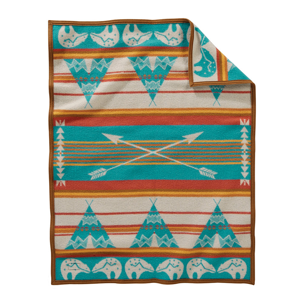 Pendleton - Muchacho Baby Blanket - Star Guardian Turquoise