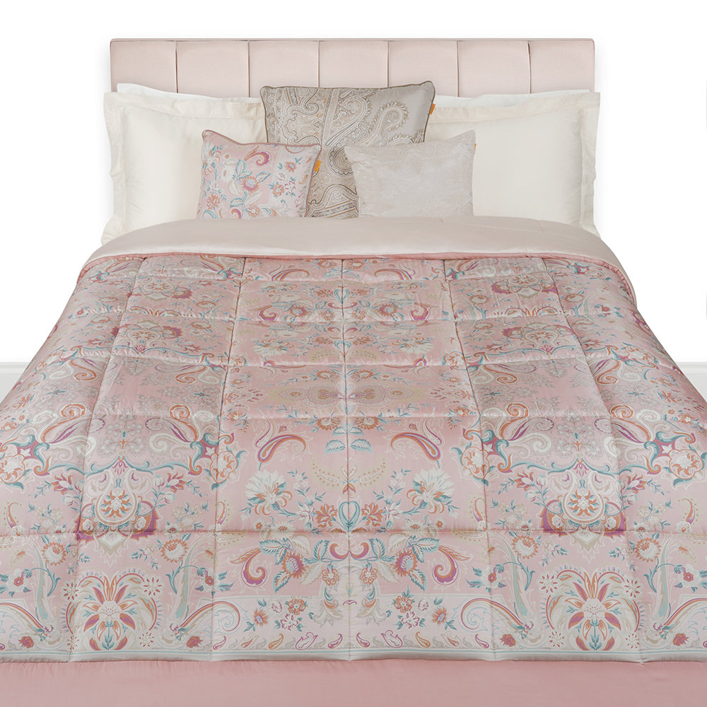 acheter etro couvre lit matelass taverny 270x270cm rose amara. Black Bedroom Furniture Sets. Home Design Ideas