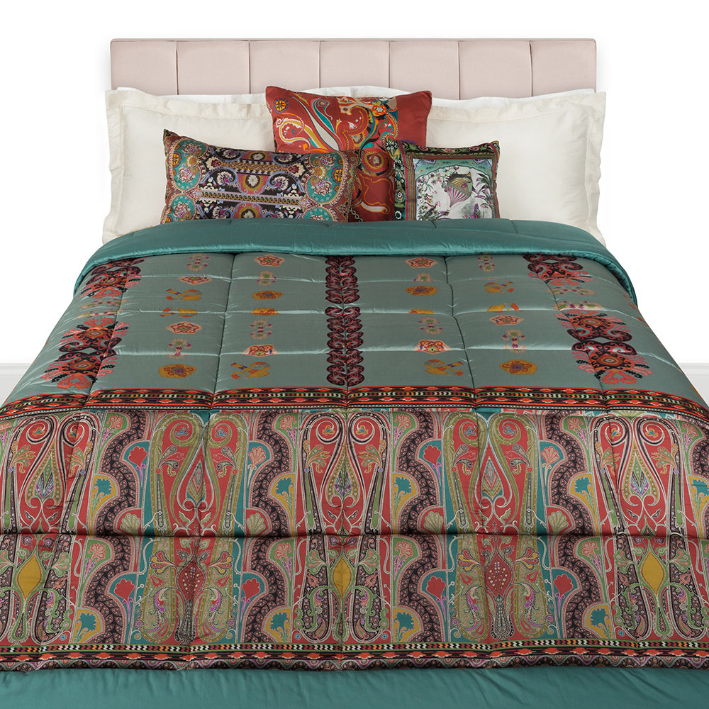 Etro  Bukhara Quilted Bedspread  270x270cm  Blue