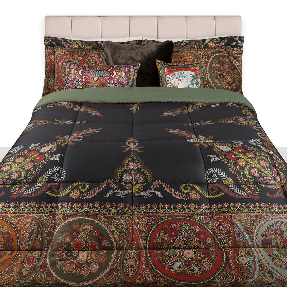 Etro  Pollina Quilted Bedspread  270x270cm  Chocolate