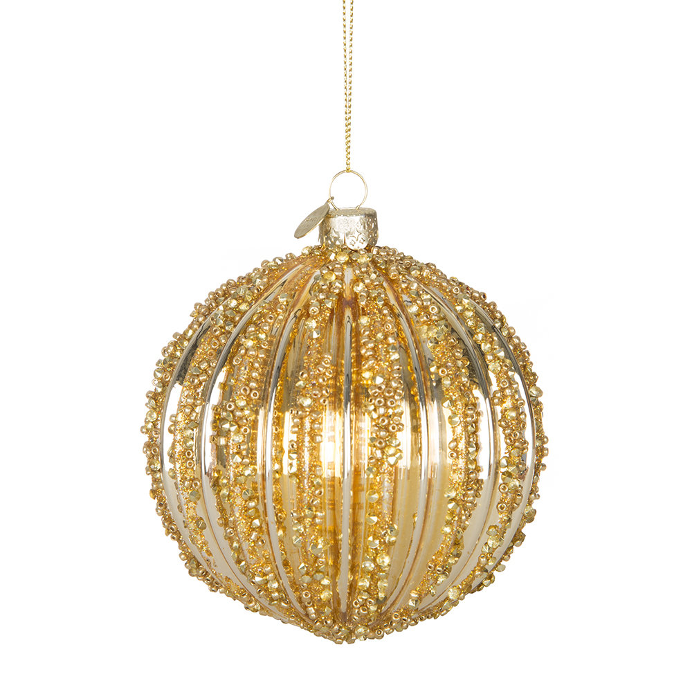 Decorate Christmas Tree With Beads: Buy A By Amara Beaded Tree Decoration - Gold