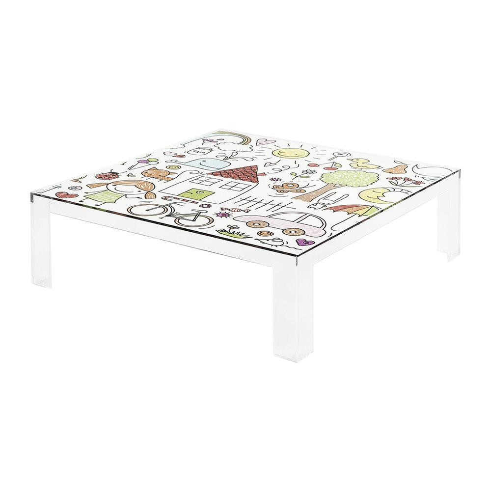 Kartell - Children's Invisible Table - Transparent Drawing