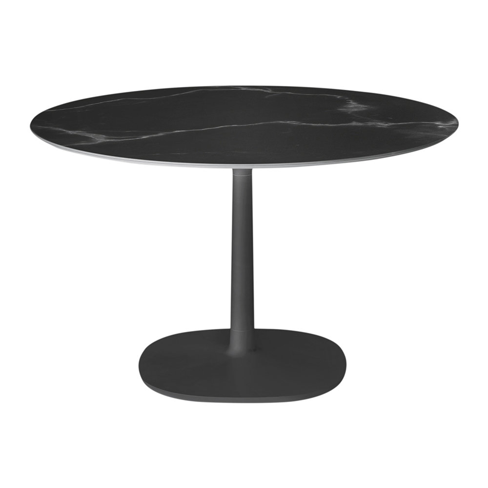 Buy kartell multiplo round marble side table black amara for Round marble side table