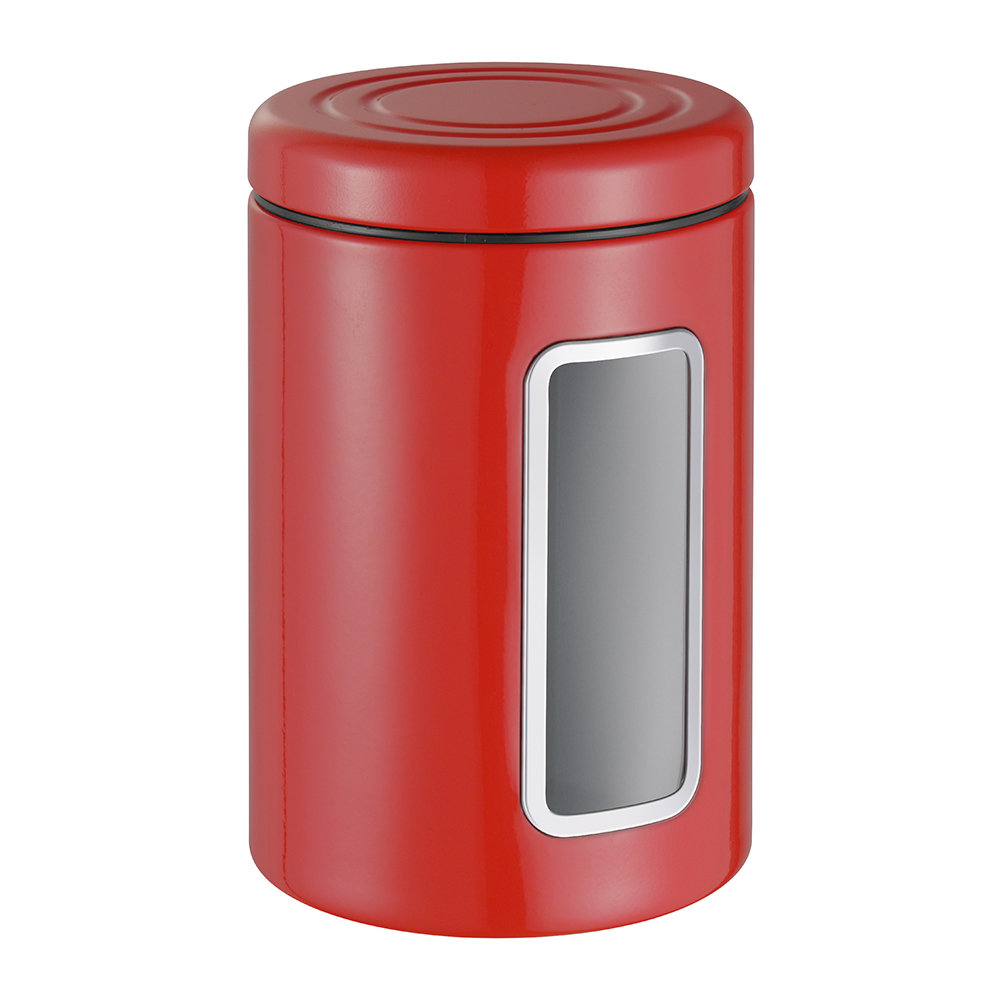 Wesco - Classic Line Canister with Window - 2L - Red