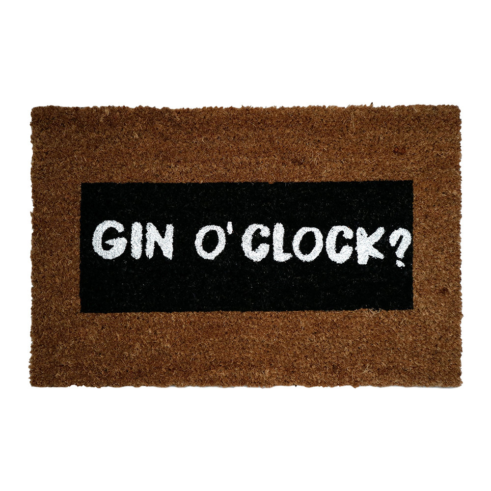 Photo of Artsy Doormats - Gin O'Clock Glitter Door Mat - shop Artsy Doormats Decor, Door Mats online