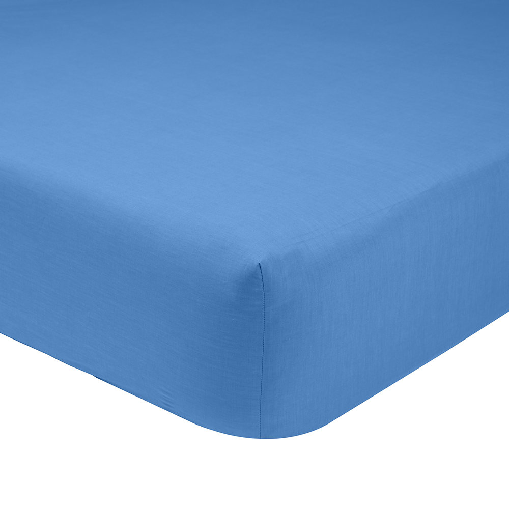 Olivier Desforges  Alcove Azur Fitted Sheet  Double