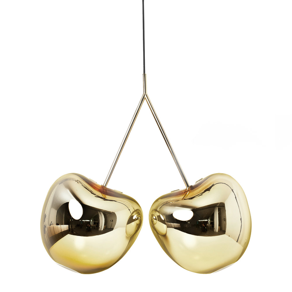 Qeeboo - Cherry Ceiling Lamp - Metallic Gold