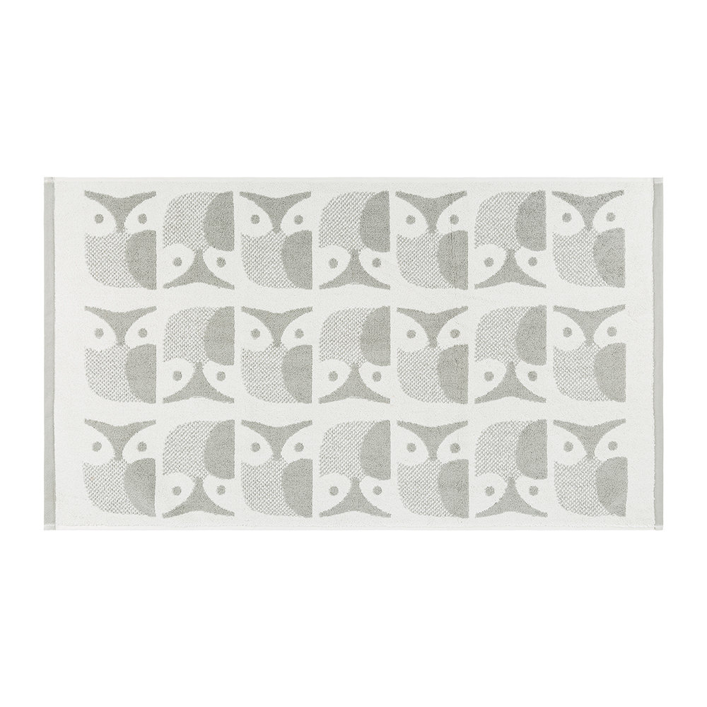 Great Buy Orla Kiely Owl Bath Mat   Light Granite | Amara