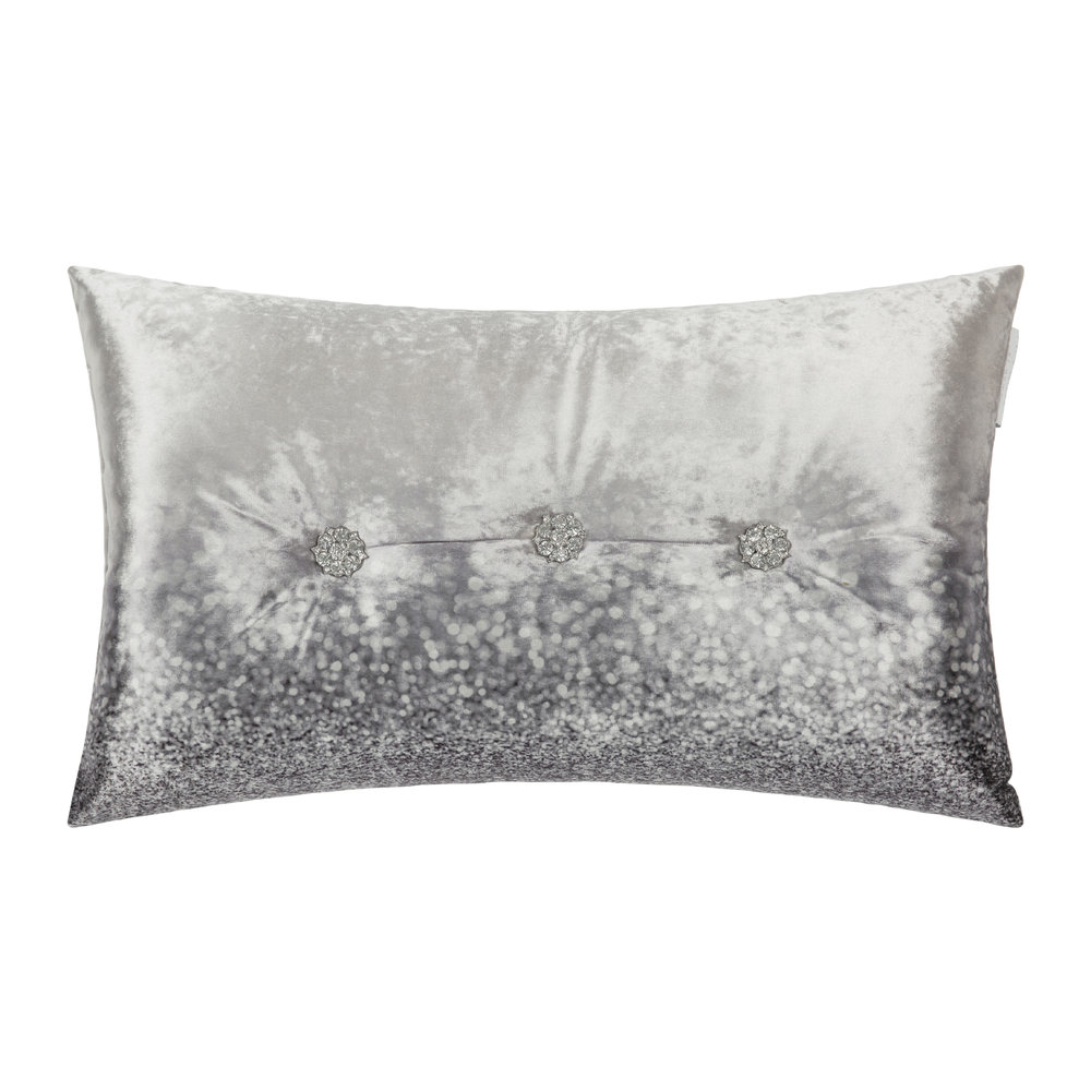 Kylie Minogue at Home  Glitter Fade Bed Pillow  30x50cm  Silver