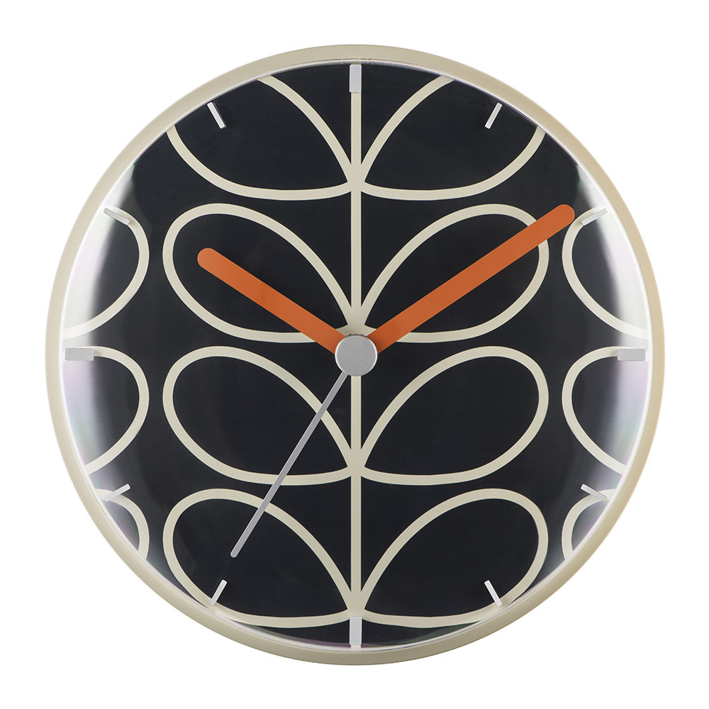 Orla Kiely Orla Kiely – Linear Stem Wall Clock – Slate Grey