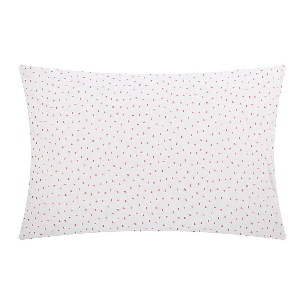 Christy  Speckle Pillowcase  Coral