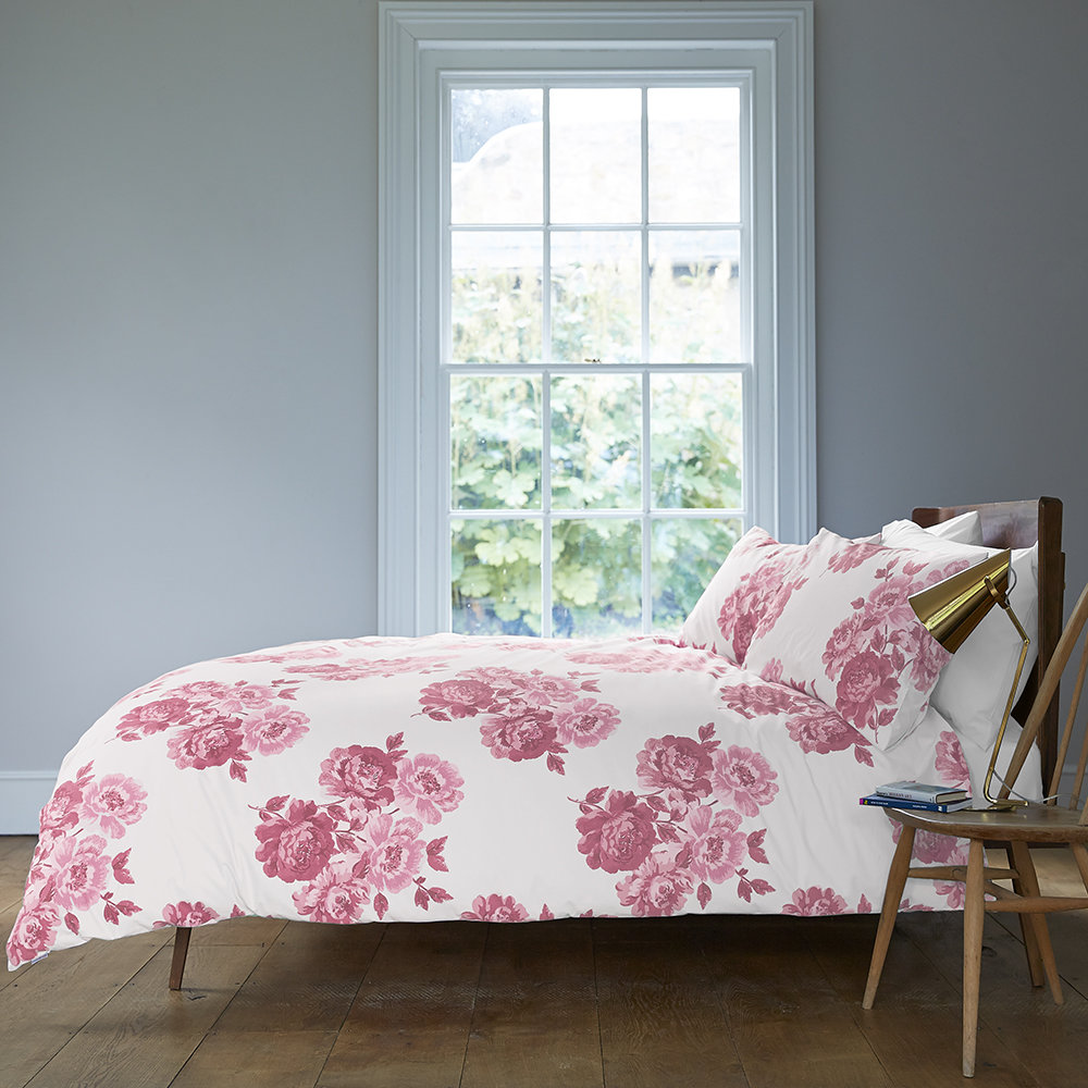Cath Kidston  Peony Blossom Duvet Cover  Pink  Double